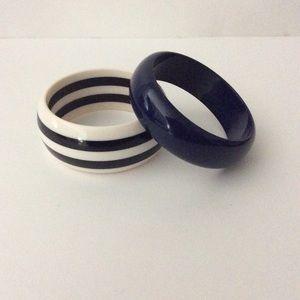 Jewelry - Blue and white bangle bracelets